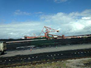 View of Bristol Port cranes