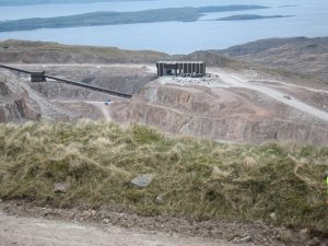 Glensanda Quarry from above